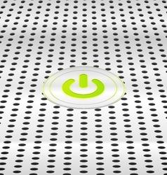 Power green button vector image vector image