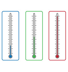Thermometers on white background vector