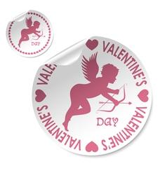 valentines sticker vector image