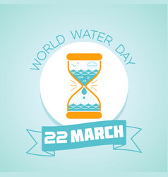 22 march world water day vector image