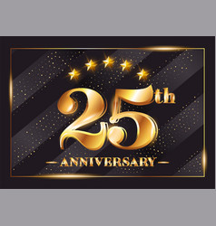 25 years anniversary celebration logo 25th vector image