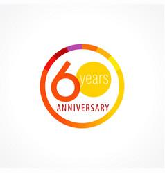 60 anniversary circle logo vector