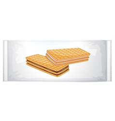 A pack of cream biscuits vector image