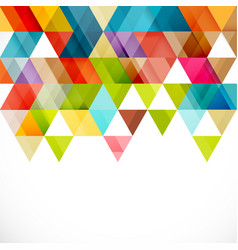 Abstract colorful triangle geometric modern vector