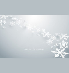 abstract snowflakes in white background vector image