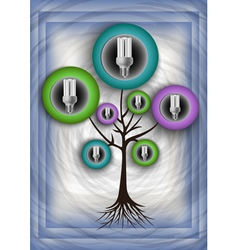 Abstract tree with bulbs vector image