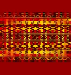 african wax print fabric ethnic geometric ornament vector image