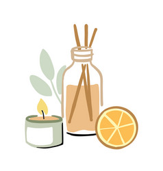 Aroma for home wrap diffuser and scented candle vector