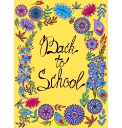 Back to school background colorful vector