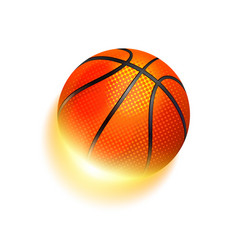 Basketball sport ball in fire vector