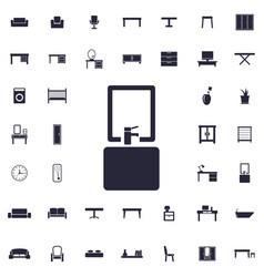 Bathroom icon vector