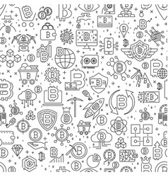 Bitcoin seamless pattern of vector