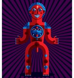 Bizarre modernistic avatar cubism theme vector