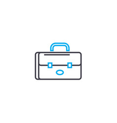 brief bag thin line stroke icon brief bag vector image