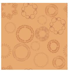 Brown bracelets on pastel beige background vector