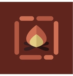 Campfire icon flat style vector image