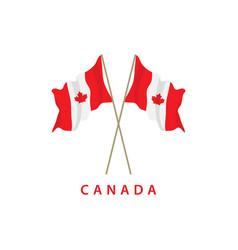 Canada flag template design vector