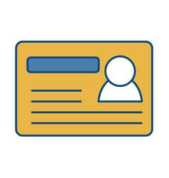 card id icon vector image