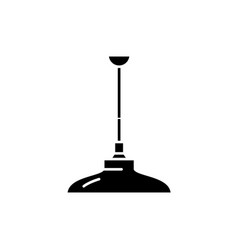ceiling lamp black icon sign on isolated vector image