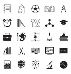 colladge education school knowledge silhouette vector image