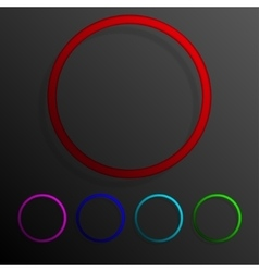 Color set circle banners frame template design vector