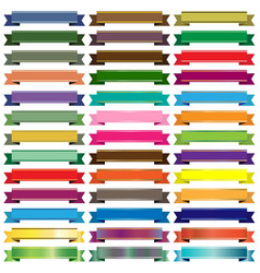 colorful ribbon banners on white background vector image