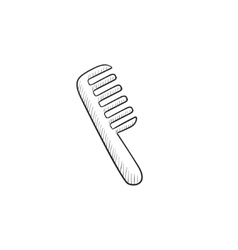 Comb sketch icon vector image