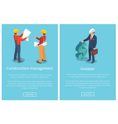 construction management page vector image