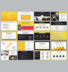 Creative stock yellow and black elements vector