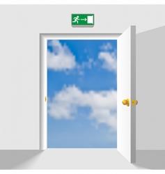Door to sky vector