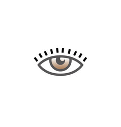 eye vision with eyelashes icon logo design vector image
