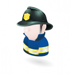 fireman illustration vector image