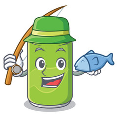 fishing soft drink character cartoon vector image