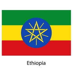 Flag of the country ethiopia vector image