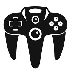 Futuristic game controller icon simple style vector