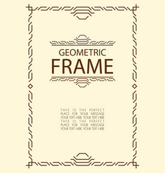 geometric line frame vector image