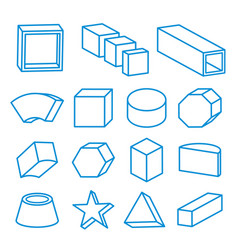 Geometric shape platonic solid icon line vector
