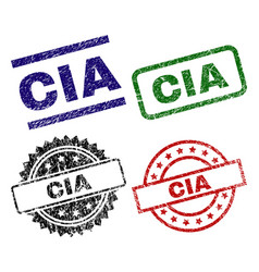 Grunge textured cia seal stamps vector