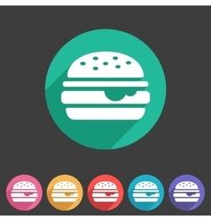 Hamburger burger icon flat web sign symbol logo vector image