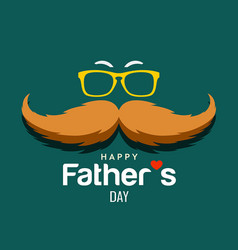 Happy father day brown mustache design vector