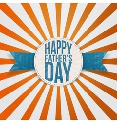 Happy Fathers Day greeting Tag with blue Text vector