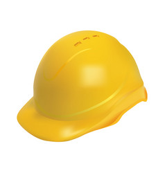 Hard hat - safety helmet realistic vector