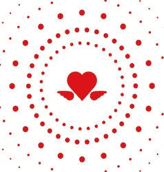 heart dot vector image