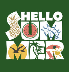hello summer lettering image vector image