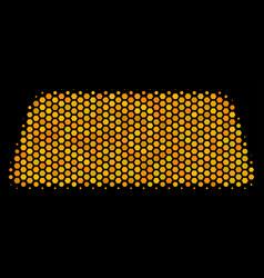 hexagon halftone treasure brick icon vector image
