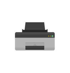 Home printer icon flat style vector