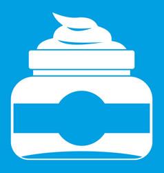 jar of cosmetic cream icon white vector image