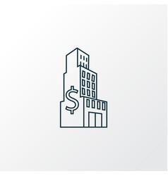 large business icon line symbol premium quality vector image