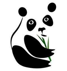 logo panda or color vector image