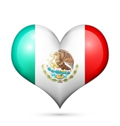 Mexico Heart flag icon vector image